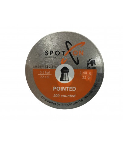 SPOTON AIRGUN POINTED PELLETS 5,5 MM 1,40/22 GRYN