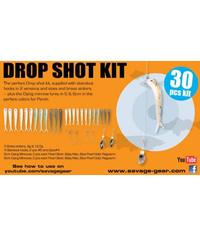 Savage gear Dying Minnow Drop Shot Pro Pack Kit 30 Adet NL Suni yem