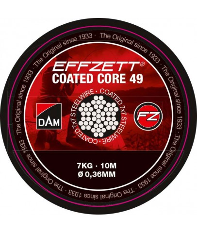 Dam Effzett Coated core49 Steeltrace Brown 24 kg 10 m Çelik Tel